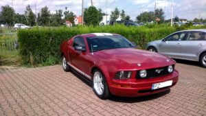 Mustang po lakierowaniu